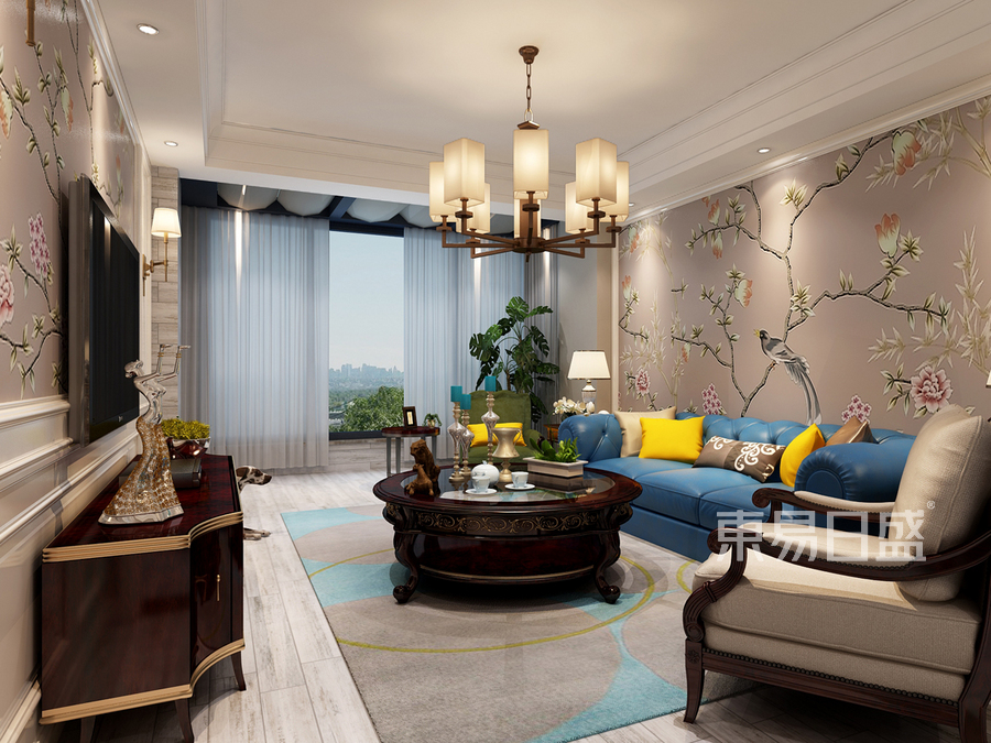 顶跃客厅美式风格设计