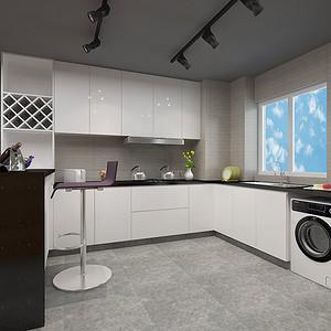 东城星河传说迪纳公寓厨房效果图