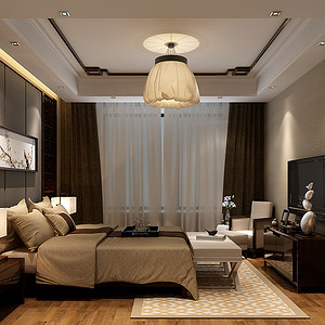 大宁山庄-中式-卧室