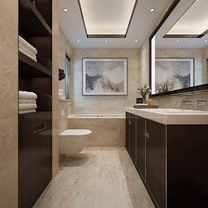 卫生间简洁大气,明亮的卫生间
