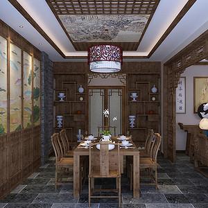 天津欣欣家园-中式复古-餐厅