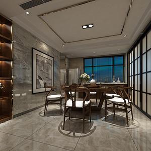 新中式 餐厅装修效果图 四房两厅