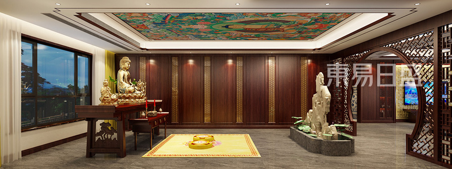 四居室佛堂-新中式-装修效果图