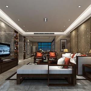新中式 客厅装修效果图 四房两厅