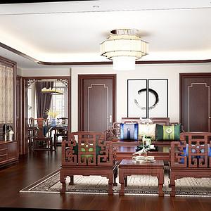 新中式风格 客厅装修效果图