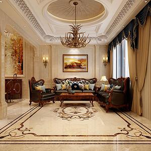 龙湖香醍 现代美式装修效果图 四室三厅 300平米