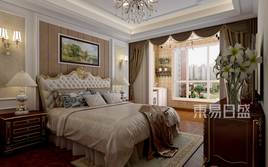 欧式风格-卧室-装修效果图