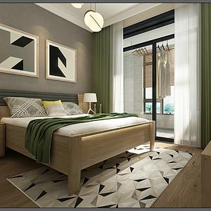 北欧风格-卧室-装修效果图