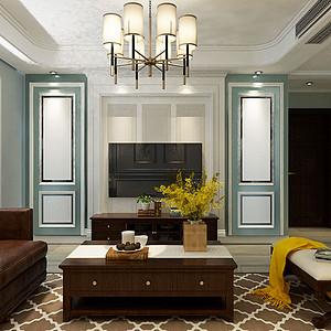 雅致美式风格客厅装修设计