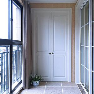 现代美式-阳台实拍