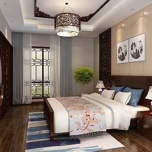 天津欣欣家园-中式复古-卧室