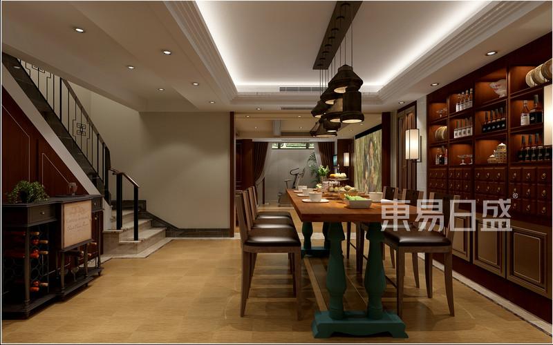 中式风格-地下室-装修效果图