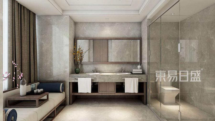大连装修-新中式-卫生间