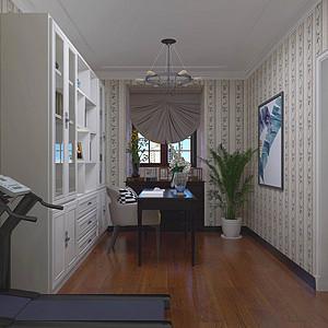 美式风格书房