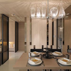 餐厅装修实景图 现代简约风格装饰