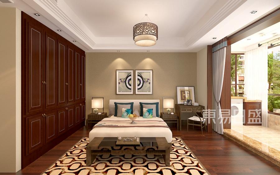 中式风格-二楼次卧-装修效果图