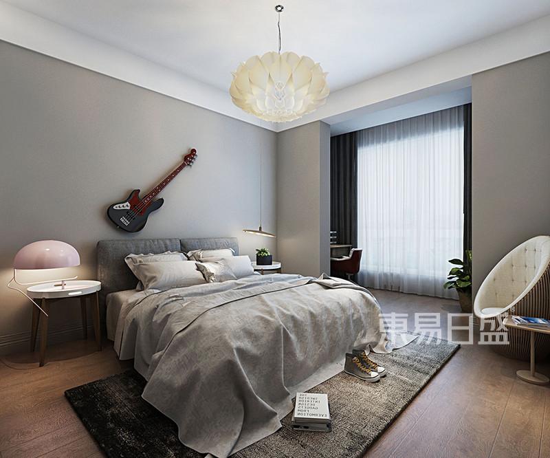 卧室效果图灰色的乳胶漆墙面效果图_装修效果图大全