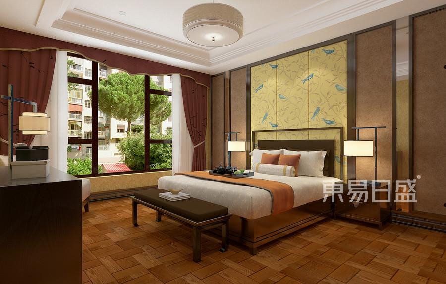 中式风格-二楼主卧-装修效果图