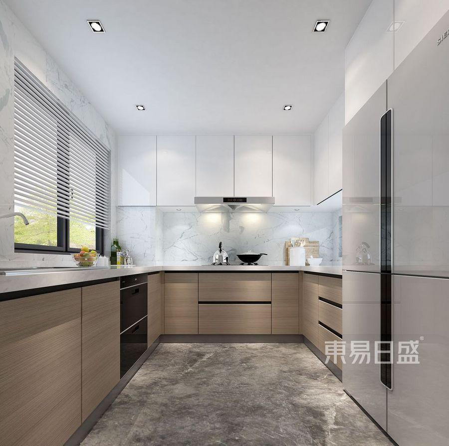 东湖花园-现代风格案例-厨房装修效果图
