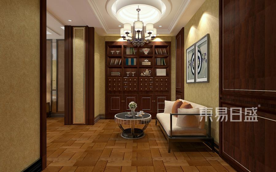 中式风格-二楼主卧室-装修效果图
