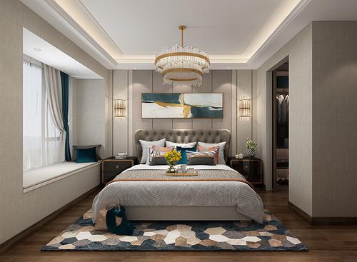 佛山融创望江府120平米现代轻奢风格装修案例