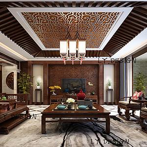 红赫世家-中式风格-230平米