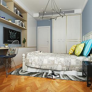 绿地天呈 法式轻奢 卧室效果图