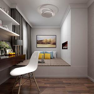 二居室-现代简约-榻榻米室-效果图