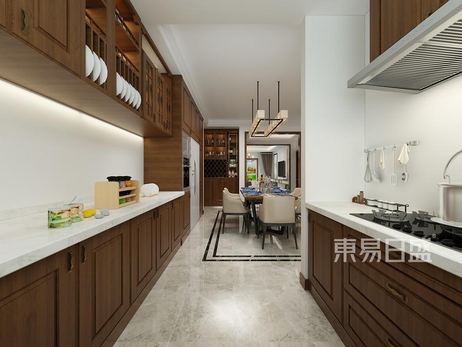 晋阳嘉园四室两厅新中式厨房装修效果图