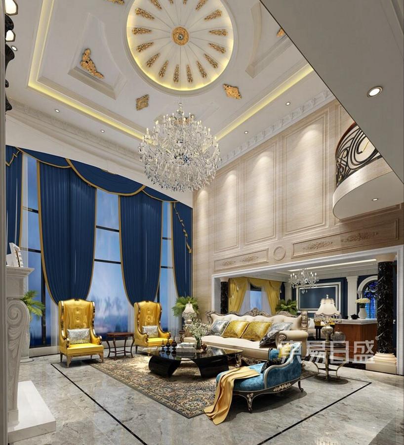 厚街海逸豪庭独栋别墅欧式古典大厅装修效果图
