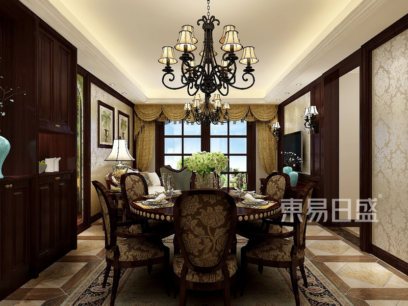 欧式古典风格餐厅设计