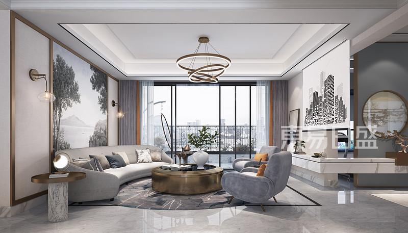 轻奢风格客厅家居装修设计