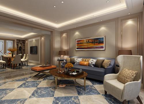 丹轩梓园 雅致主义装修效果图 三室两厅三卫 160平米