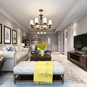 高科麓湾 美式装修效果图 四室二厅二卫 150平米
