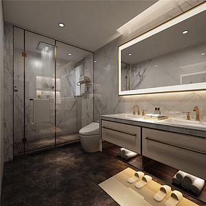 浴室低调与柔和