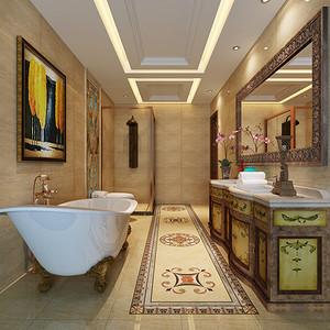 新古典 卫生装修效果图 两室两厅装饰