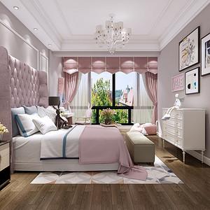 龙湾国际470平新中式风别墅儿童房