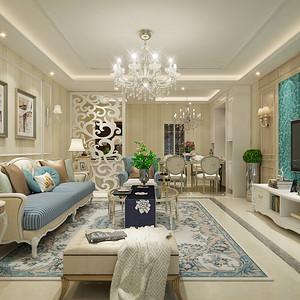 广华轩小区-140平米-简欧风格