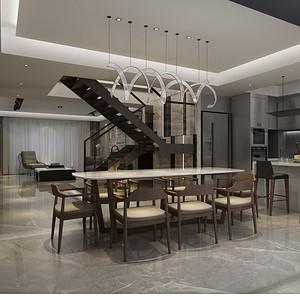 现代简约 餐厅装修效果图 复式楼装饰