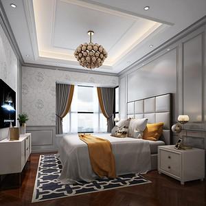 黄埔雅苑-美式风格-卧室装修效果图