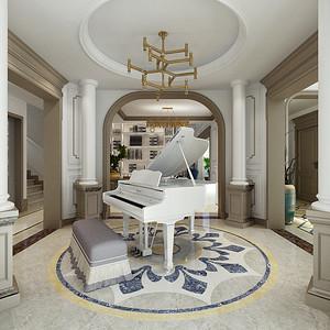 和院 简欧风格 钢琴区