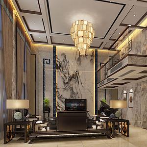 自建房420平米新中式风格装修效果图