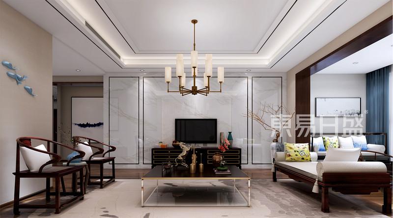客厅新中式装修效果图