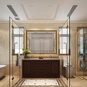 黄埔雅苑-美式风格-卫生间装修效果图