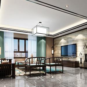 虎门碧桂园家装案例 170㎡新中式四房二厅装修效果图
