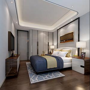 现代简约装修风格案例_主卧室设计