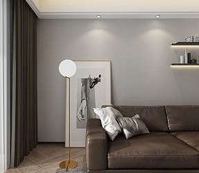 现代简约客厅软装效果图