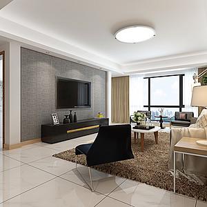 昆明汇都国际147平米两室两厅现代简约风格装修效果图