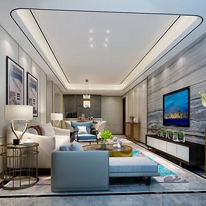现代简约装修风格案例_客厅设计