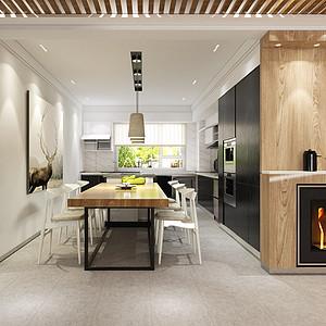 餐厅与厨房一体化,空间优化很合理
